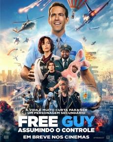 Cinema Cineplus - free guy assumindo o controle